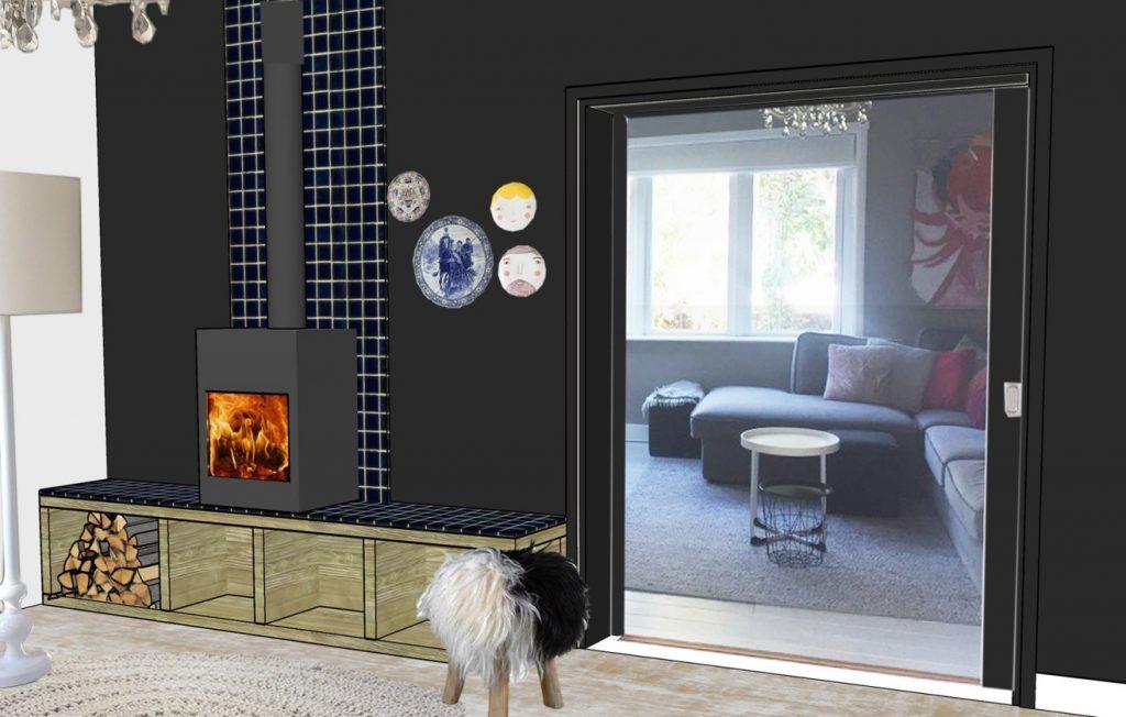 interieurontwerp maatwerk indelingsadvies styling haard kachel