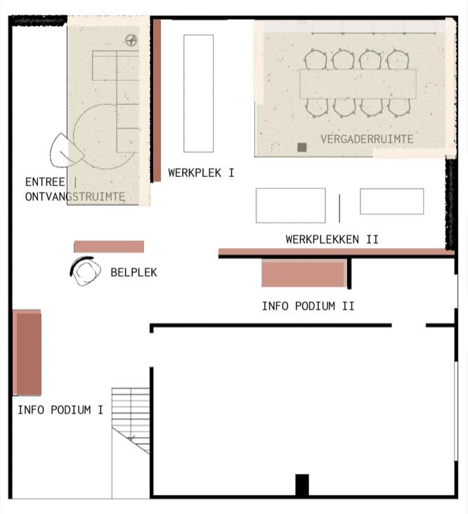 werkplan indelingsplan showroom cantor