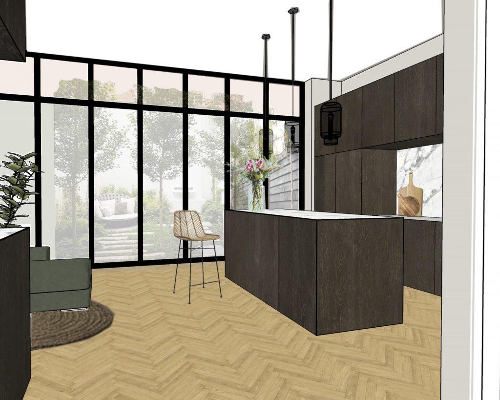interieurontwerp indelingsadvies keuken herenhuis