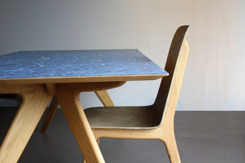 circulair duurzaam interieur design tafel stoel