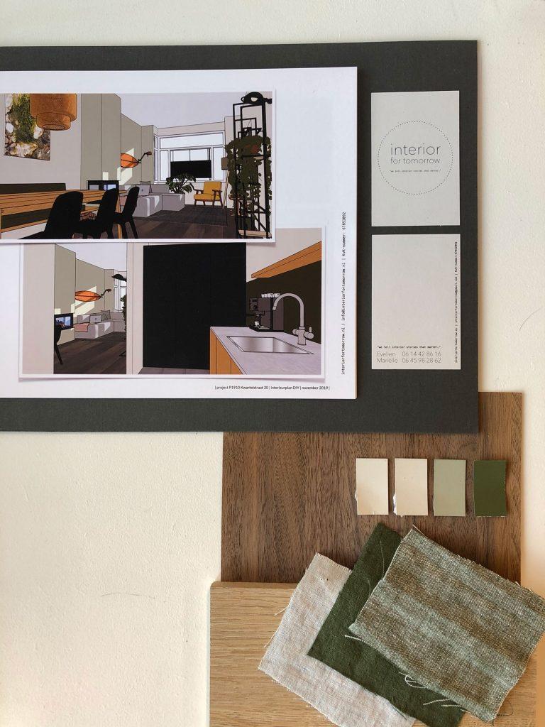 interieurplan DIY materiaalstalen kleurstalen