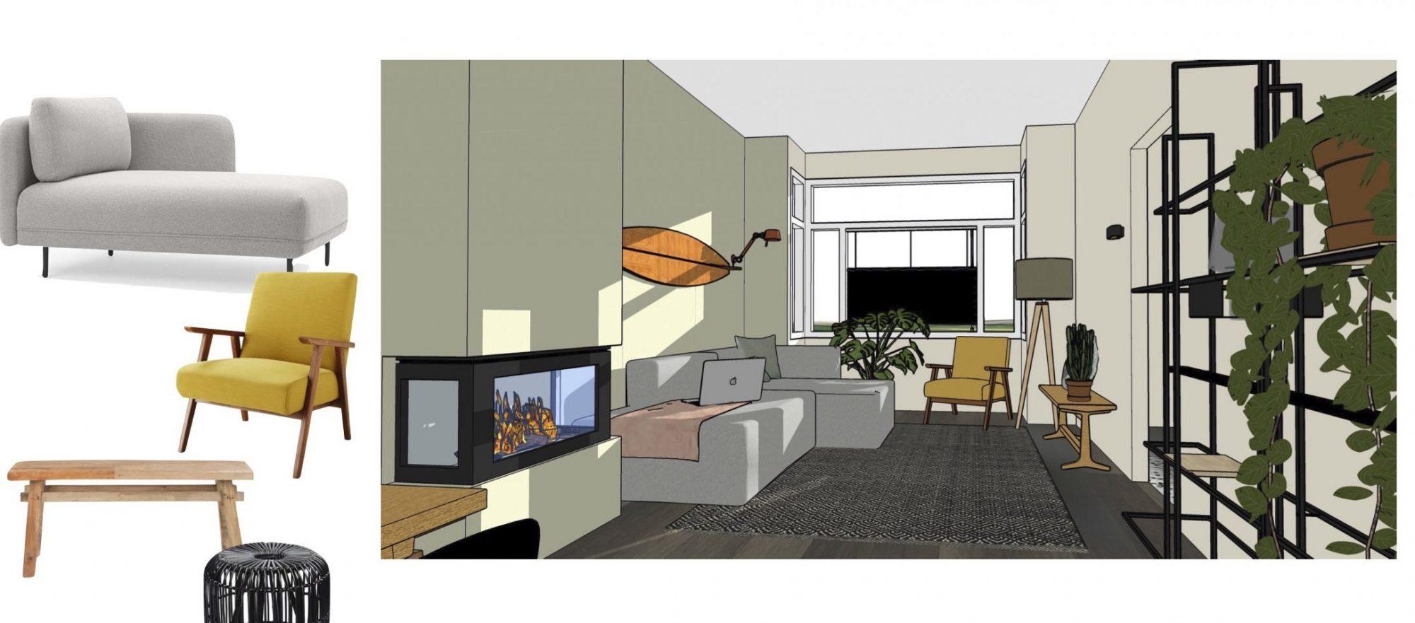 interieuradvies interieurplan DIY stoer warm nest zithoek