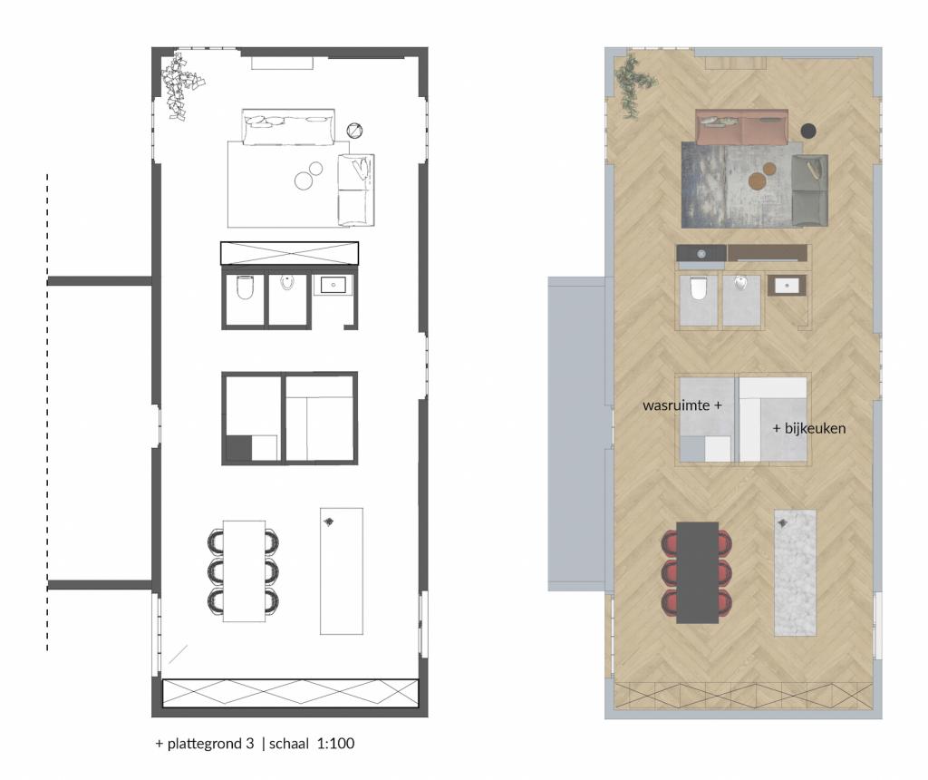 kievitlaan nieuwe indeling woonkamer keuken functionele ruimtes